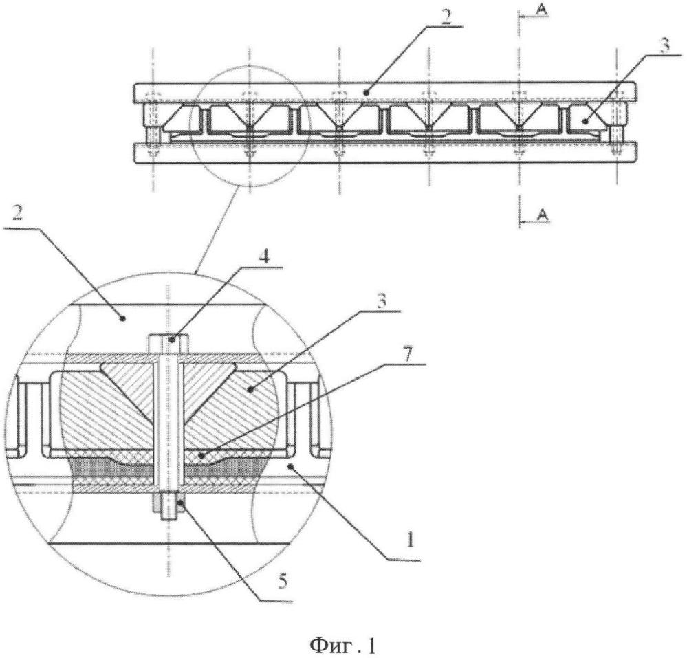 Устройство для крепления композиционных стрингерных панелей