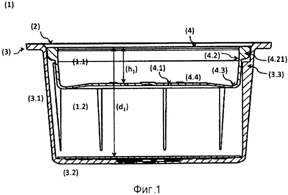 Контейнер на одну порцию, система и способ приготовления жидких продуктов на основании указанных контейнеров на одну порцию