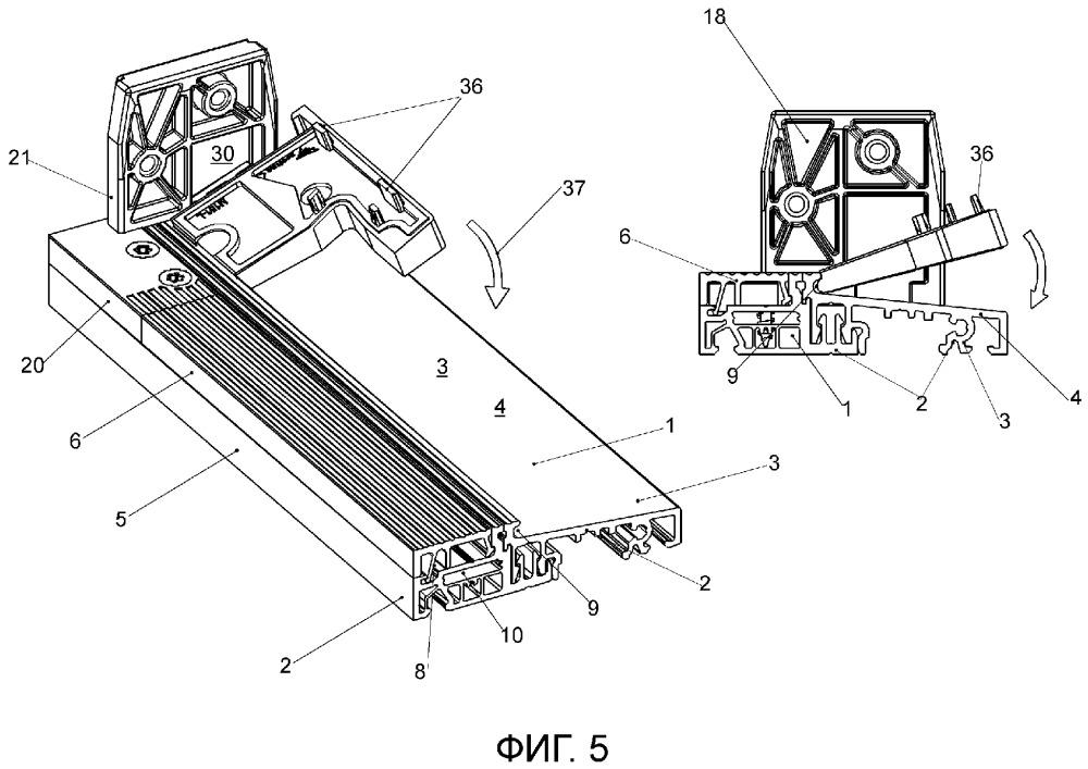 Система для изготовления дверной коробки с держателем порога