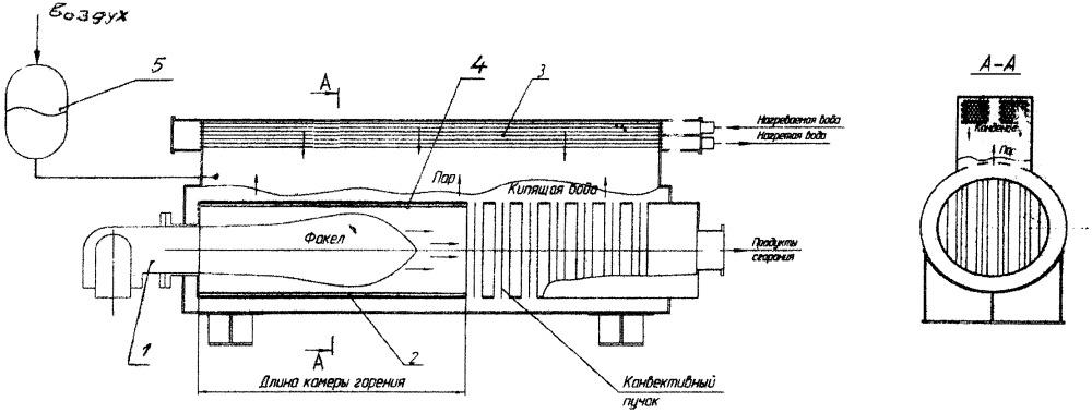 Вакуумный водогрейный котёл-термосифон