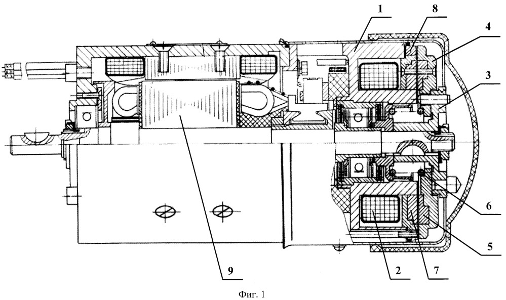 Электромагнитная муфта-тормоз для электродвигателя привода стержней атомного реактора