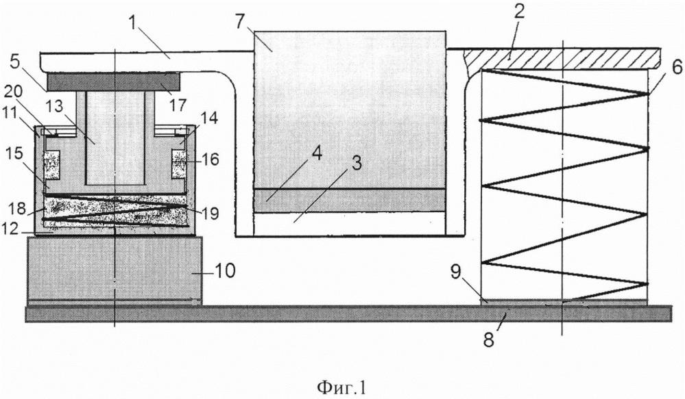 Резинометаллический виброизолятор с демпфером