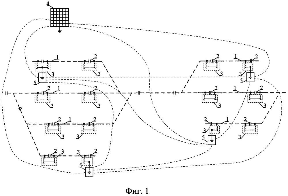 Схема канализации обратного тягового тока на станции