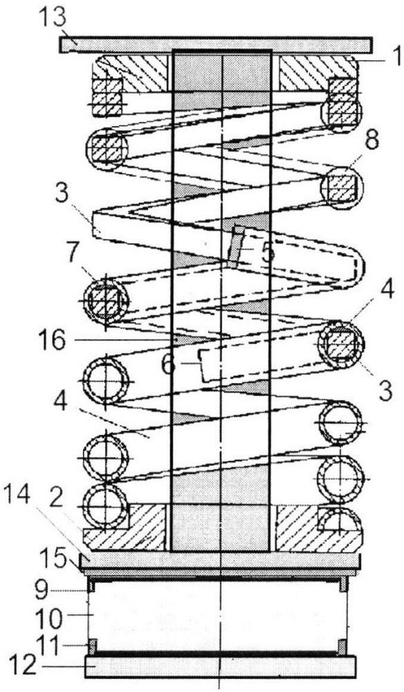 Комбинированная пружина с упругодемпфирующим устройством
