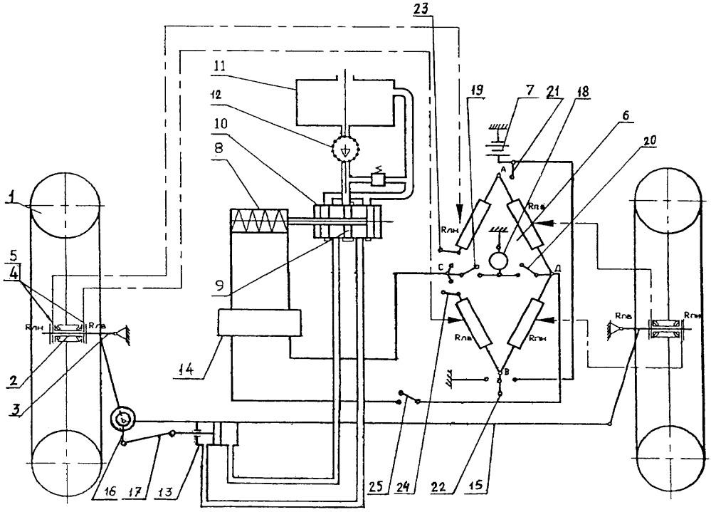 Система к автотранспортному средству для регулирования схождения управляемых колес