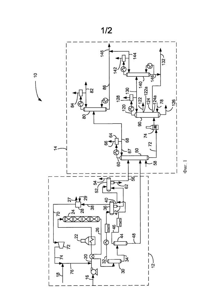 Способ и установка для извлечения и смешивания гидрообработанных углеводородов и композиция