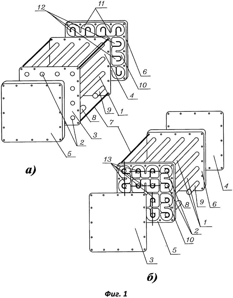 Теплообменник с жидким теплоносителем (варианты)
