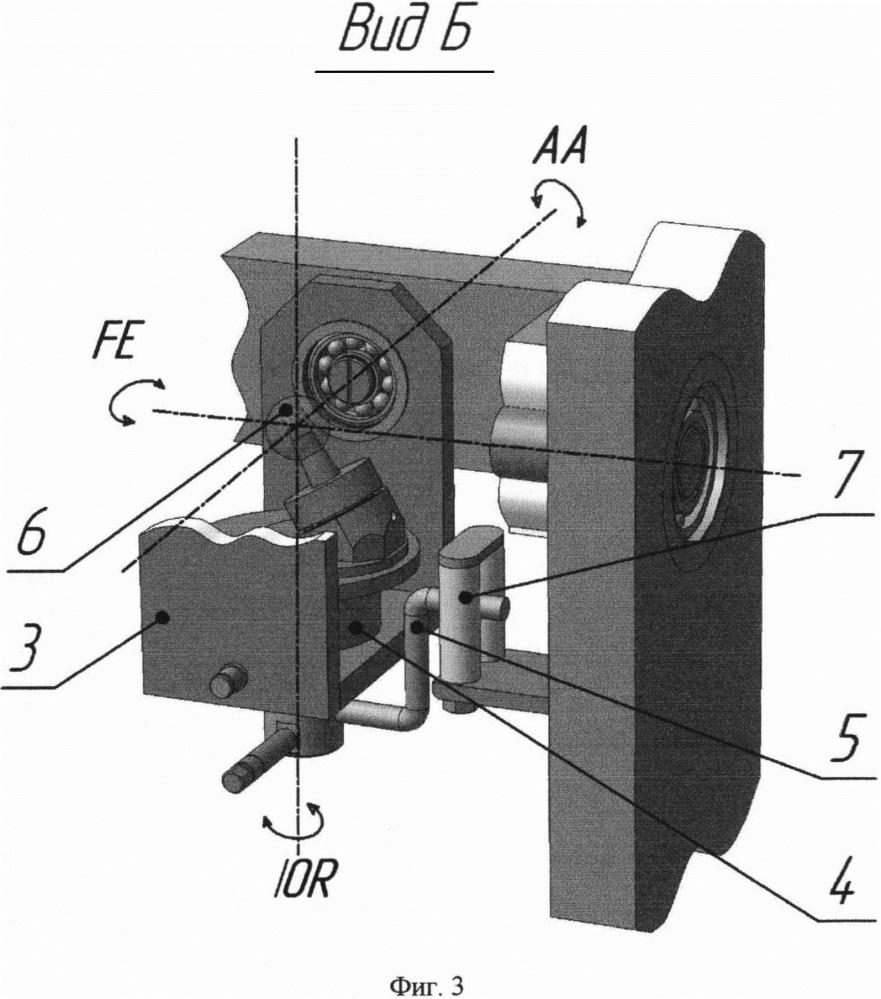 Моделирующее устройство для испытания эндопротезов тазобедренного сустава на износ