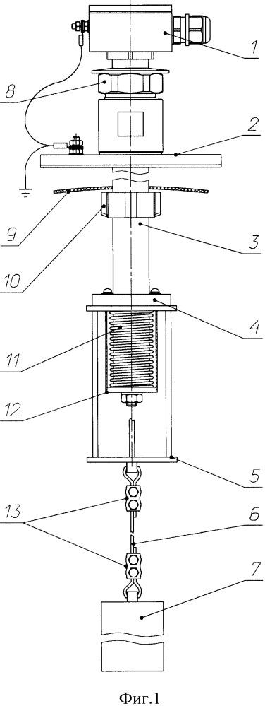 Устройство контроля верхнего положения плавающей крыши (понтона) в резервуаре