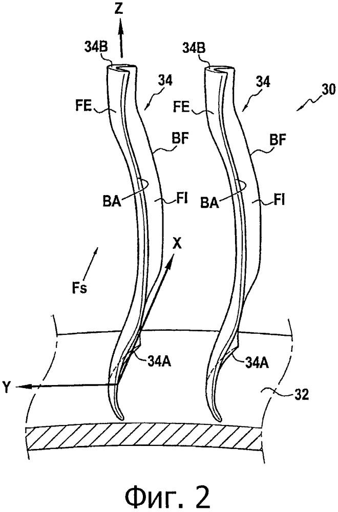 Лопатка спрямляющего аппарата газотурбинного двигателя