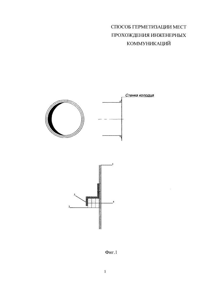 Способ герметизации мест прохождения инженерных коммуникаций
