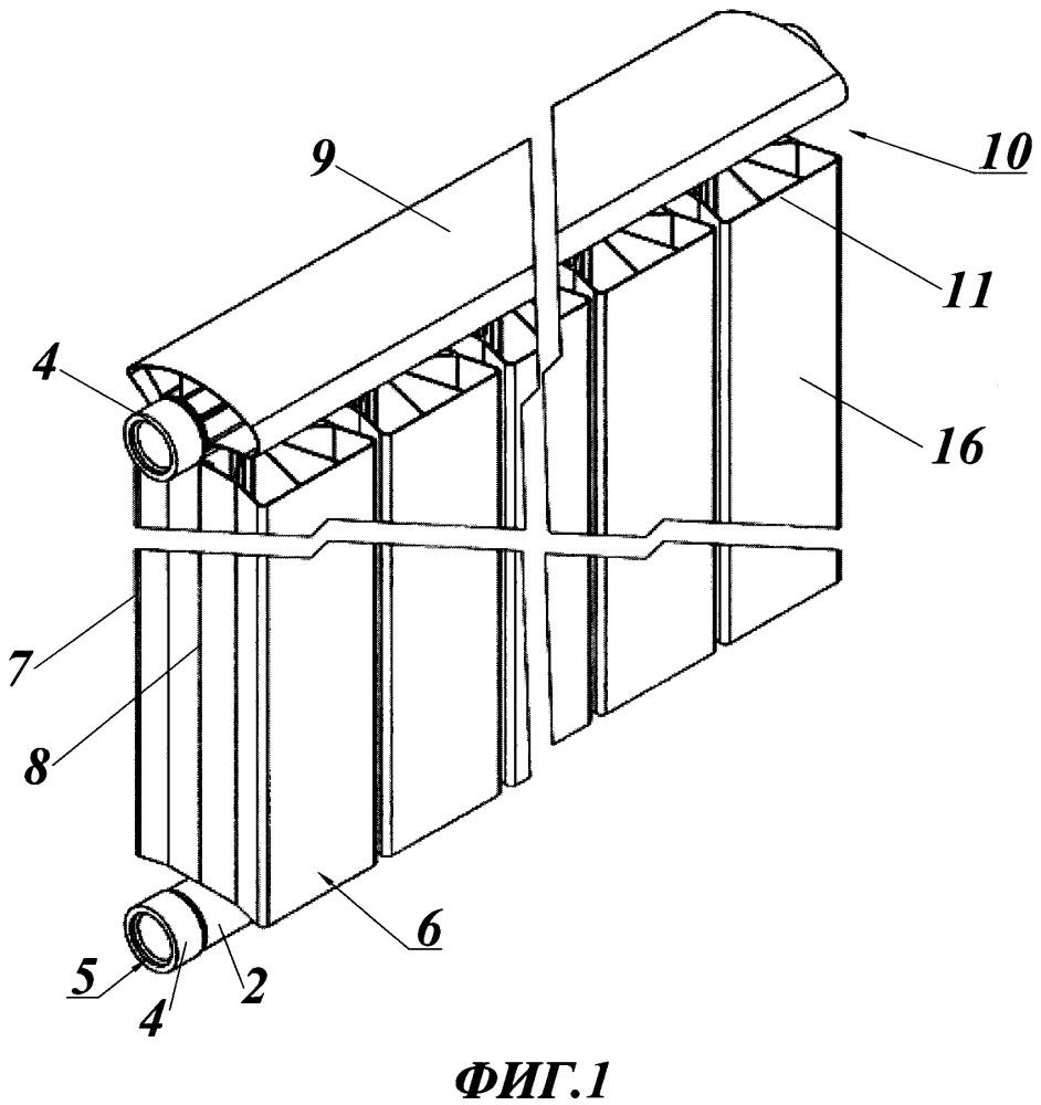 Биметаллический радиатор и способ его изготовления