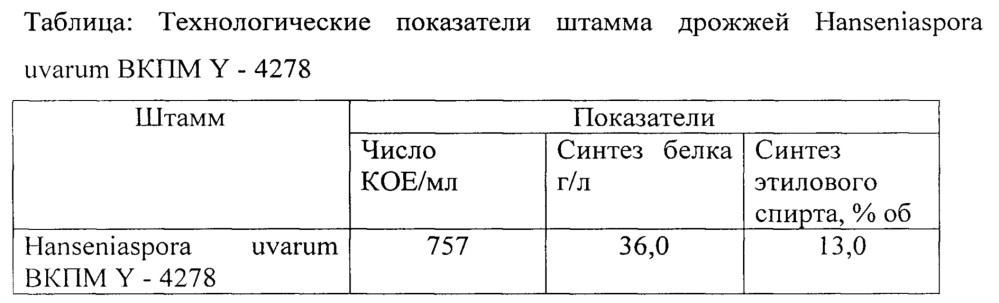 Штамм hanseniaspora uvarum вкпм y-4278 - продуцент этилового спирта