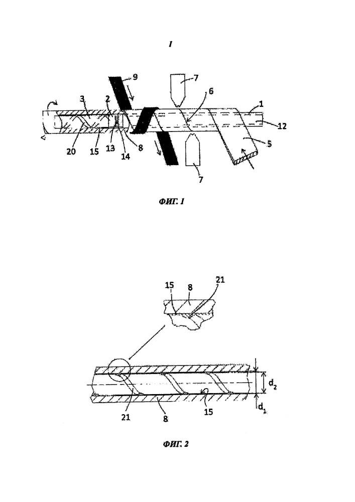 Трубчатая мембрана со спиральным гребнем и устройство и способ для ее получения