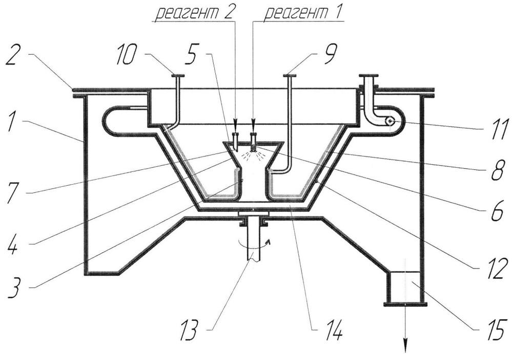 Центробежный массообменный аппарат для систем жидкость - жидкость