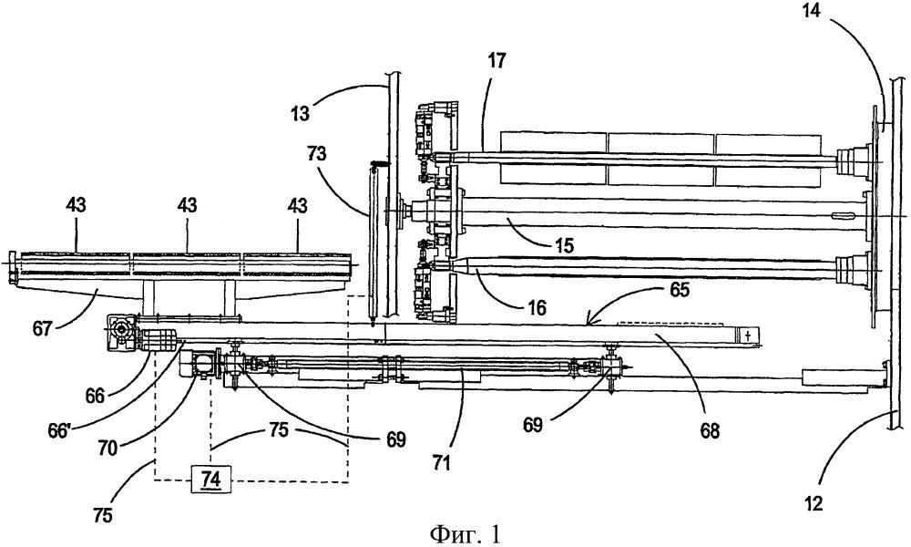 Приспособление для автоматической заправки гильзы и выгрузки рулона в мотальной машине для намотки полимерной пленки