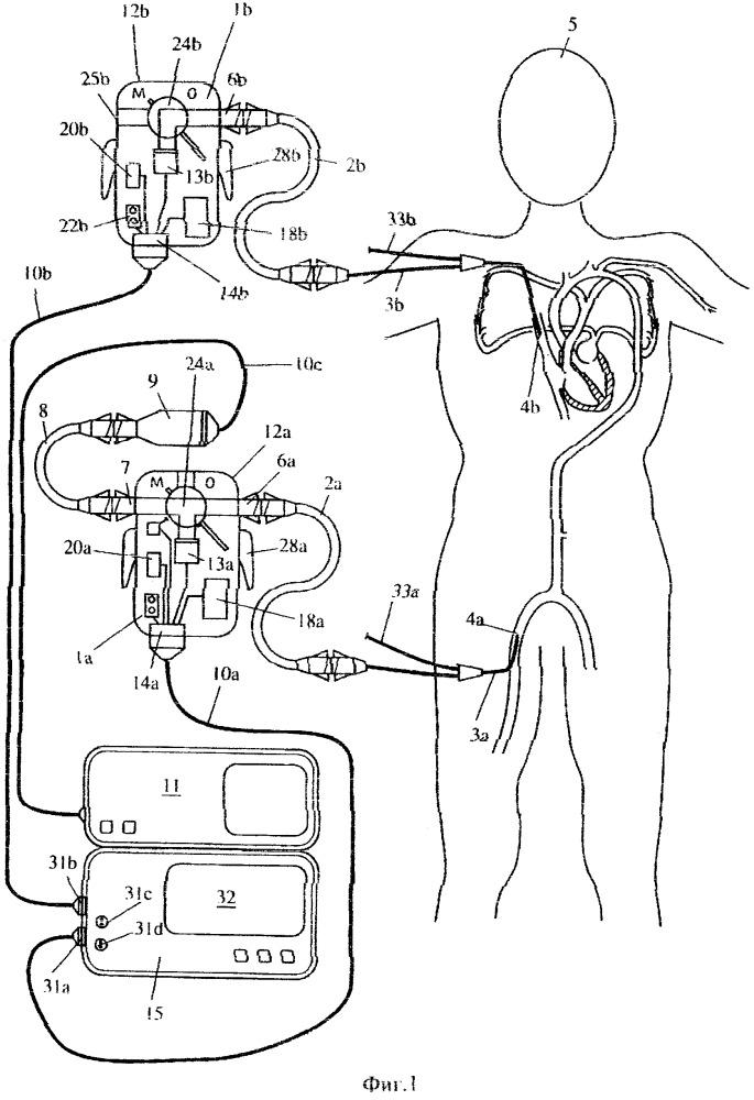Переносное сенсорное устройство и прибор для контроля за состоянием пациента
