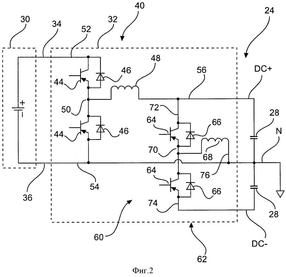 Двунаправленный преобразователь аккумуляторной батареи и уравнительное устройство для аккумулирования электроэнергии в системе электропитания