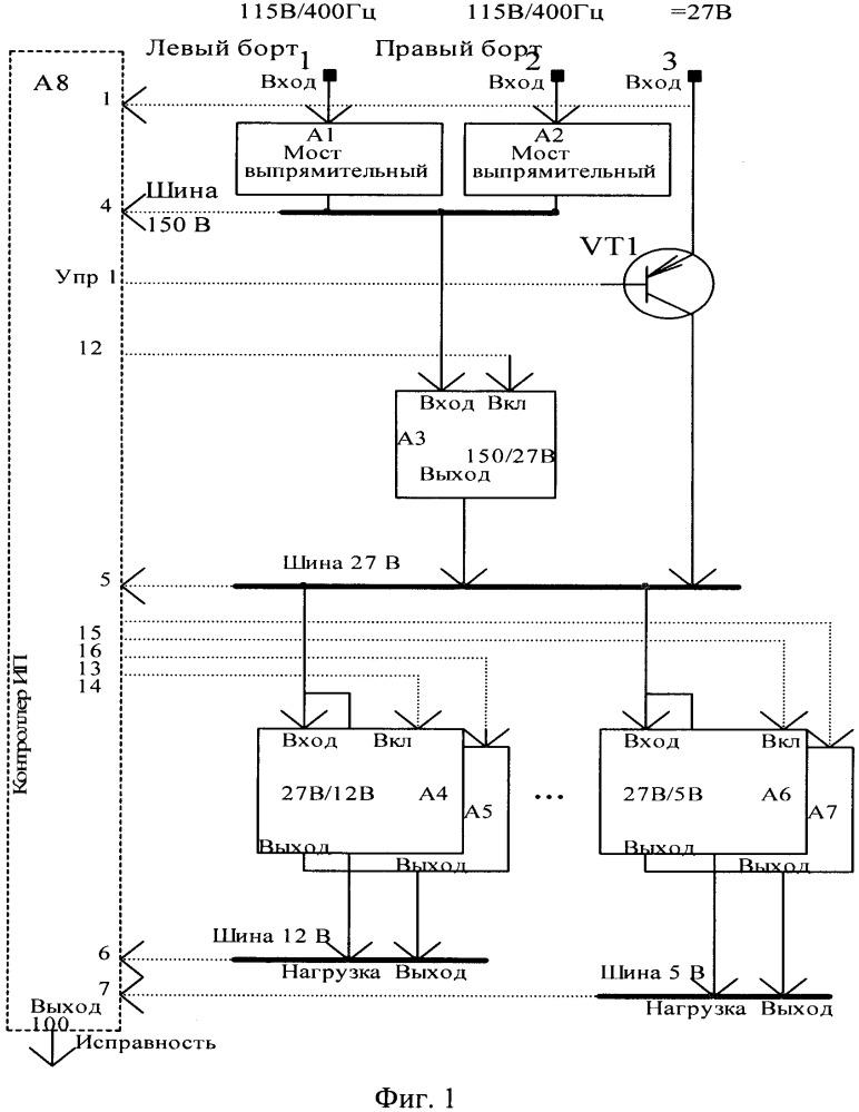 Способ построения модульного источника питания повышенной надежности и модульный источник питания