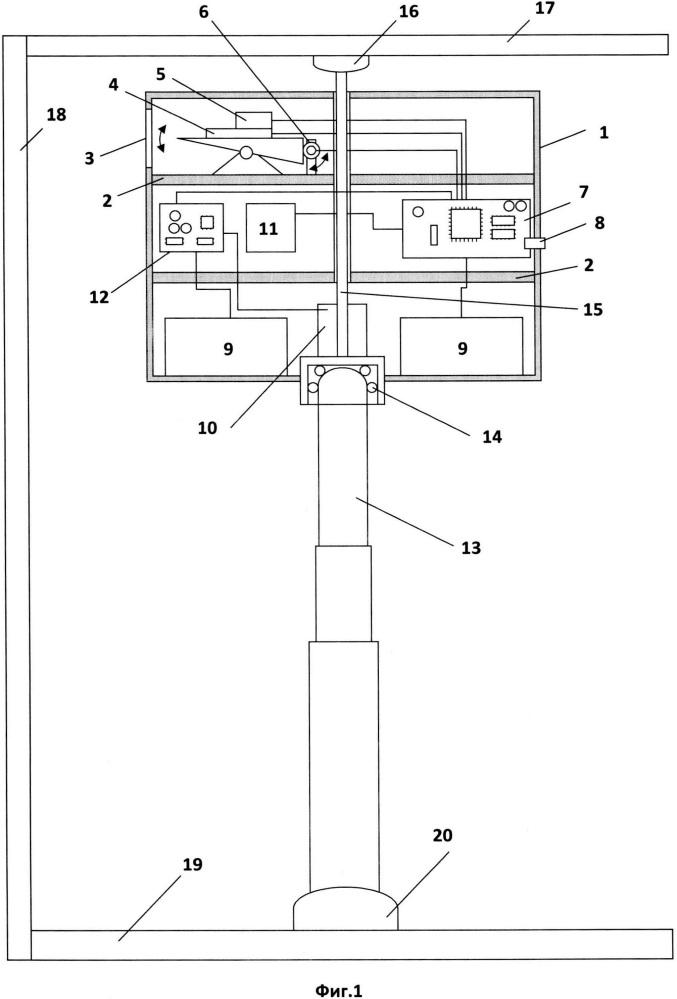 Способ измерения линейных и угловых величин внутри помещения