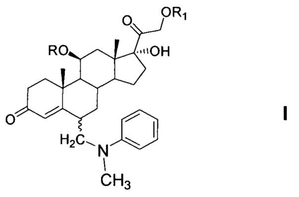 Способ получения 6-(n-метил-n-фенил)аминометил-гидрокортизона или его эфиров из 21-ацетата гидрокортизона