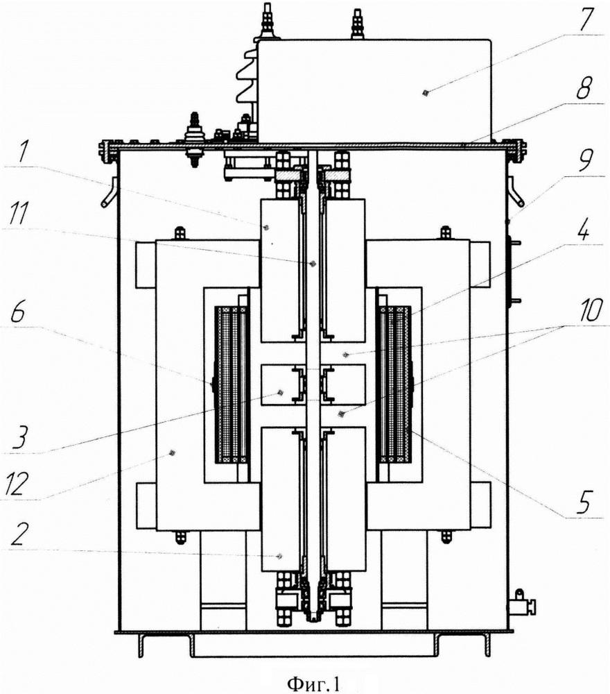 Дугогасящий реактор с регулируемыми распределенными зазорами рдмрр