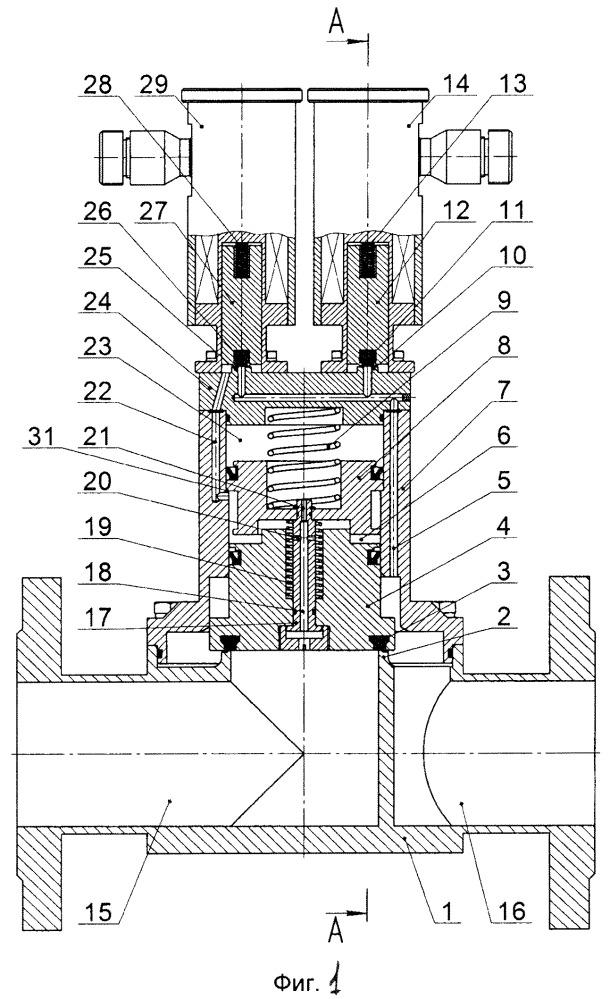Клапан электромагнитный запорный двухпроходной