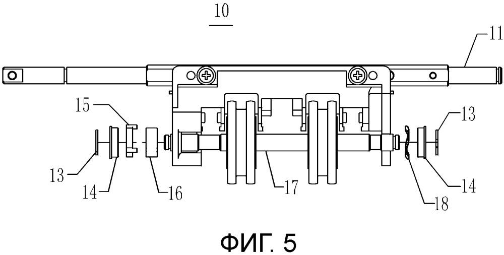 Устройство для распределения бумажных денег и его комплект реверсивных колес