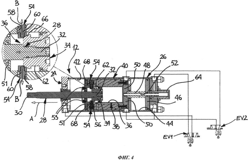Гидравлический привод, в частности, для управления относительным перемещением электрододержательных рычагов сварочного пистолета для контактной точечной сварки