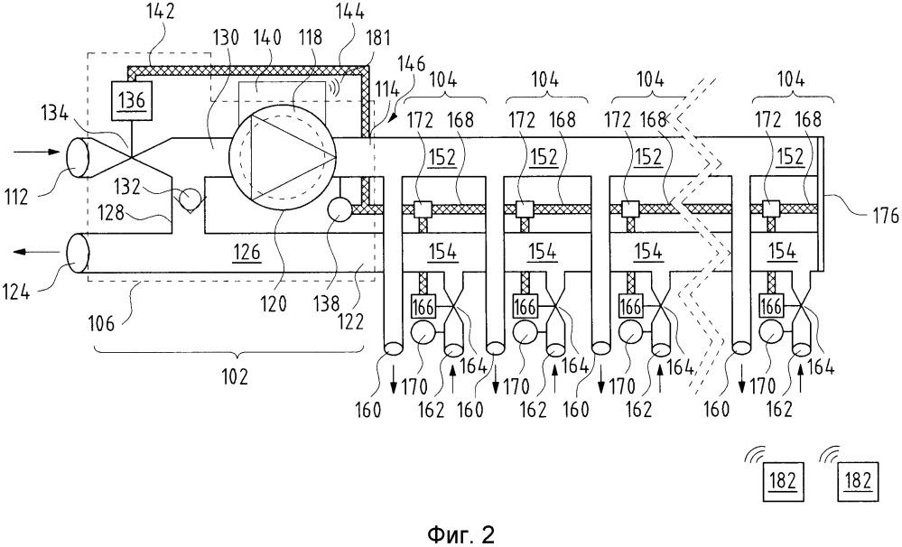 Циркуляционный насосный агрегат для системы нагрева и/или охлаждения