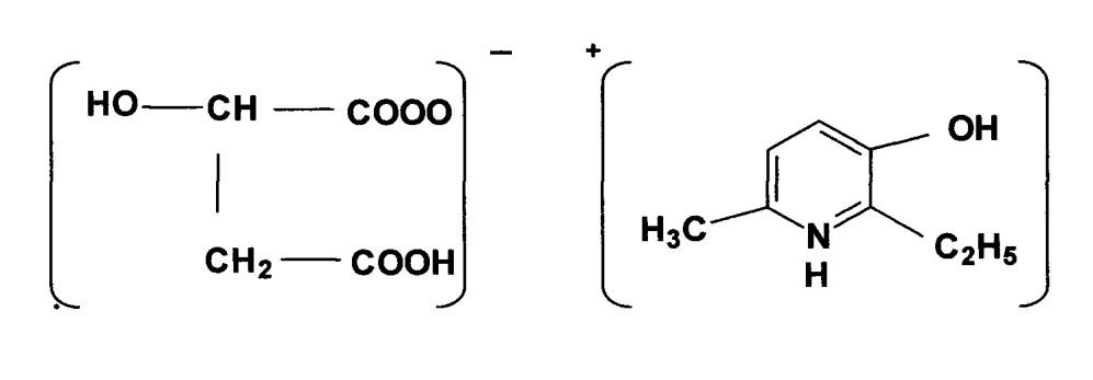 L-энантиомер 2-этил-6-метил-3-гидроксипиридиния гидроксибутандиоата, обладающий церебропротекторной активностью