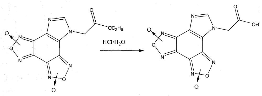 Способ получения n-карбэтоксиметилимидазо[4,5-e]бензо[1,2-c;3,4-c′]дифуроксана