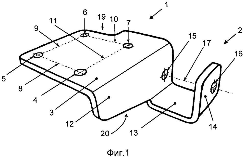 Кронштейн для крепления амортизатора подвески транспортного средства