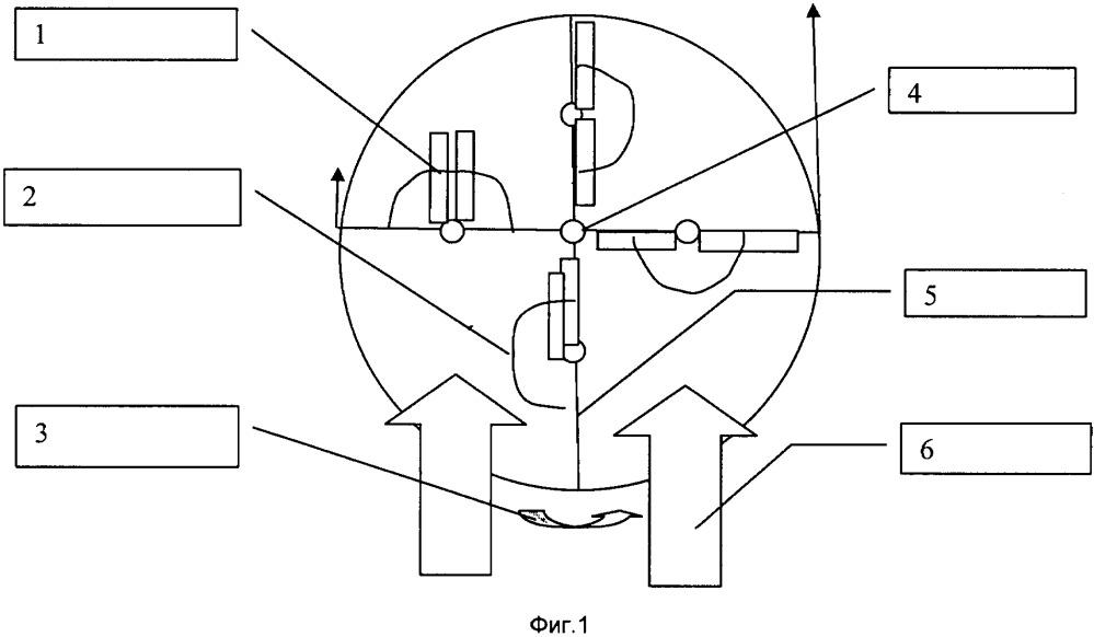 Вертикальный ветродвигатель с колеблющимися лопастями