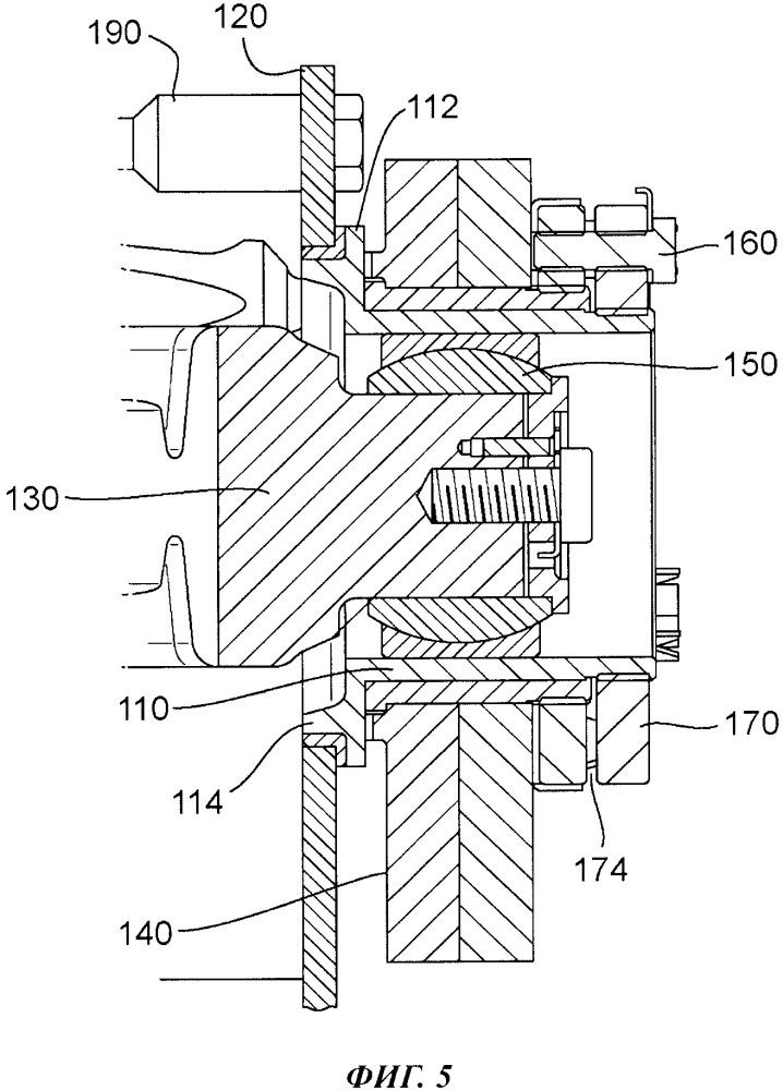 Нижнее крепление привода управляемого горизонтального стабилизатора