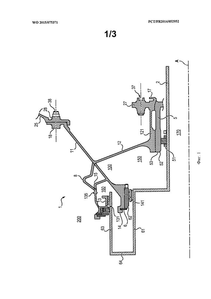 Опора подшипника с осесимметричной спиральной уплотнительной прокладкой