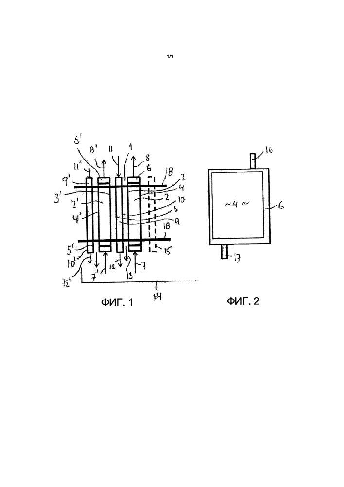 Устройство для мембранной дистилляции