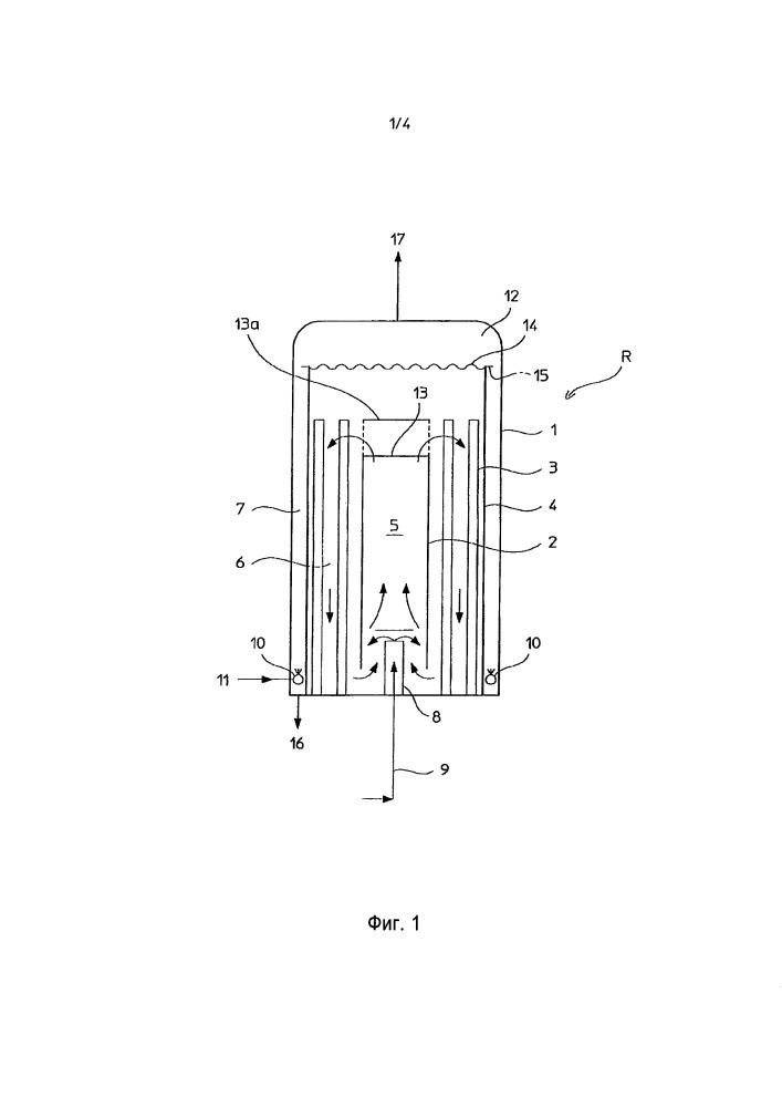 Комбинированный реактор для синтеза меламина при высоком давлении