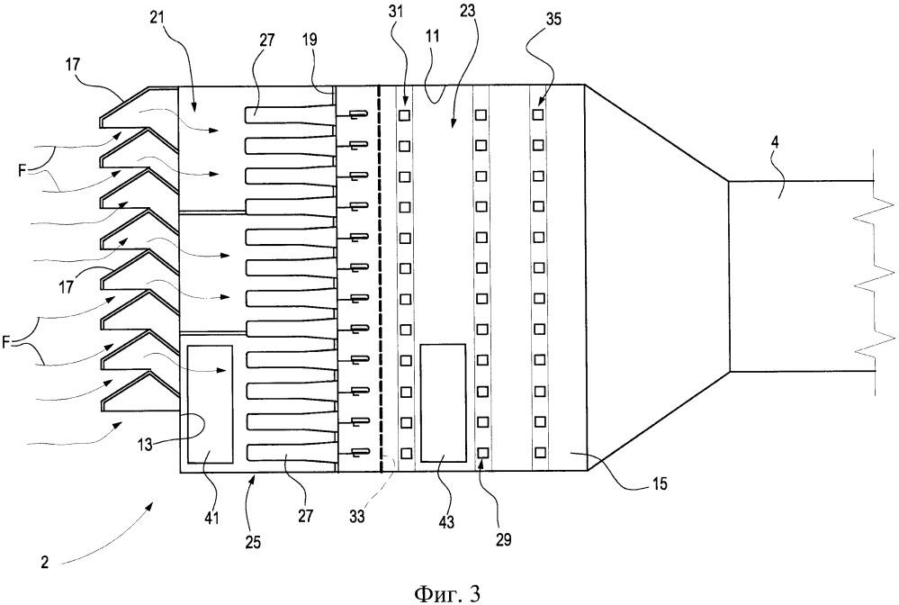 Фильтровальная камера для газовых турбин и способ технического обслуживания указанной камеры