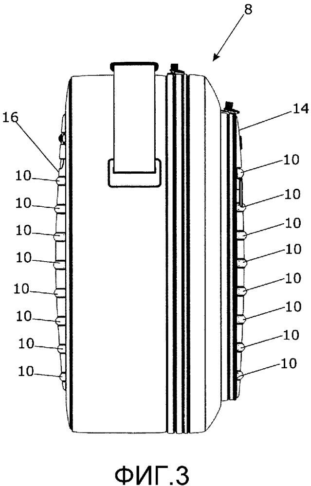 Устройство хранения с трехмерными выступами на внешней поверхности