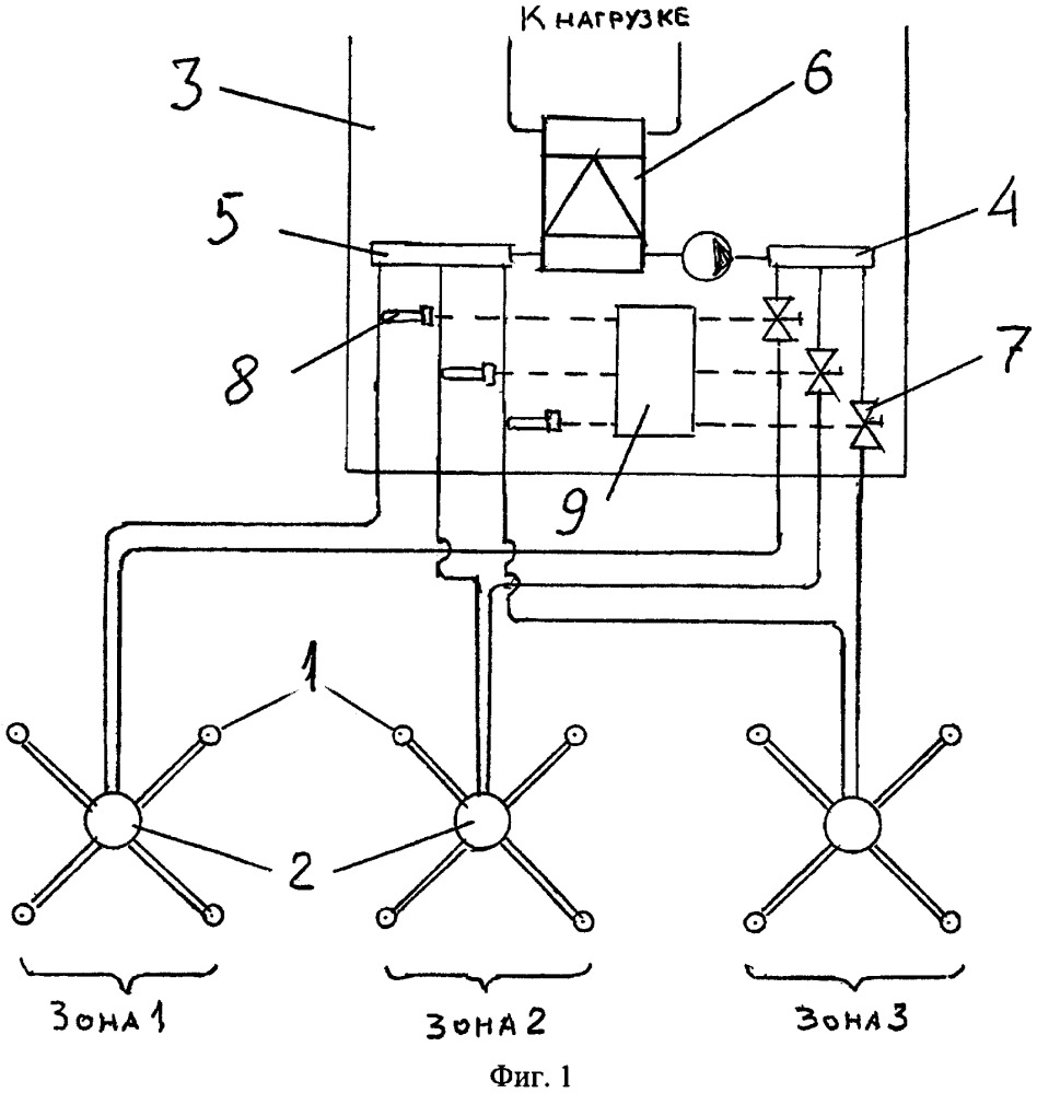 Способ регулирования геотермальной теплонасосной системы и устройство для его осуществления