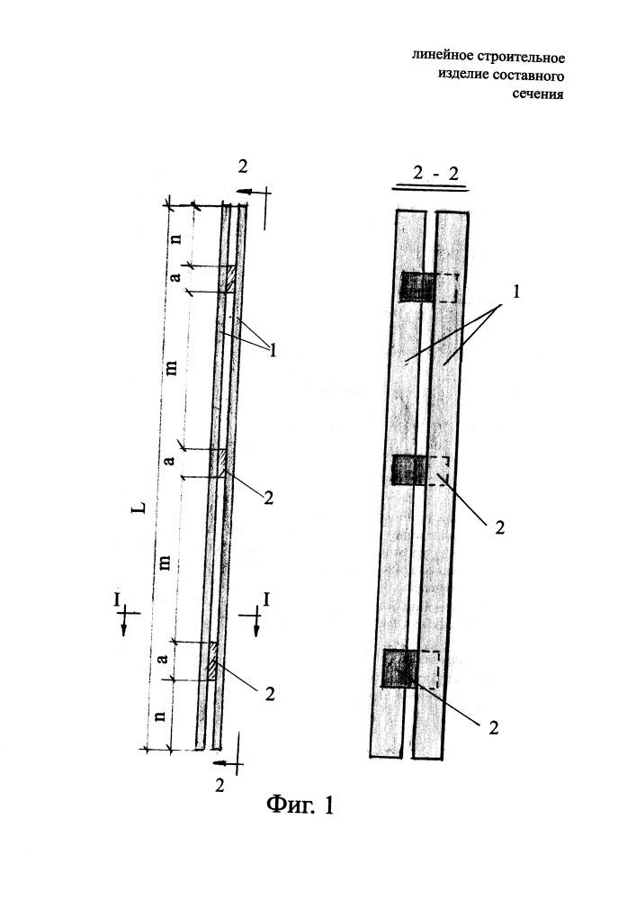 Линейное строительное изделие составного сечения