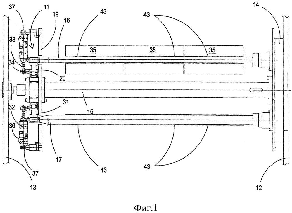 Приспособление для крепления и поддержки мотального шпинделя в машине для намотки полимерной пленки