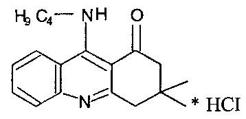 Фармацевтические композиции на основе 9-бутиламино-3,3-диметил-3,4-дигидроакридин-1(2н)-она гидрохлорида для коррекции когнитивных и неврологических нарушений