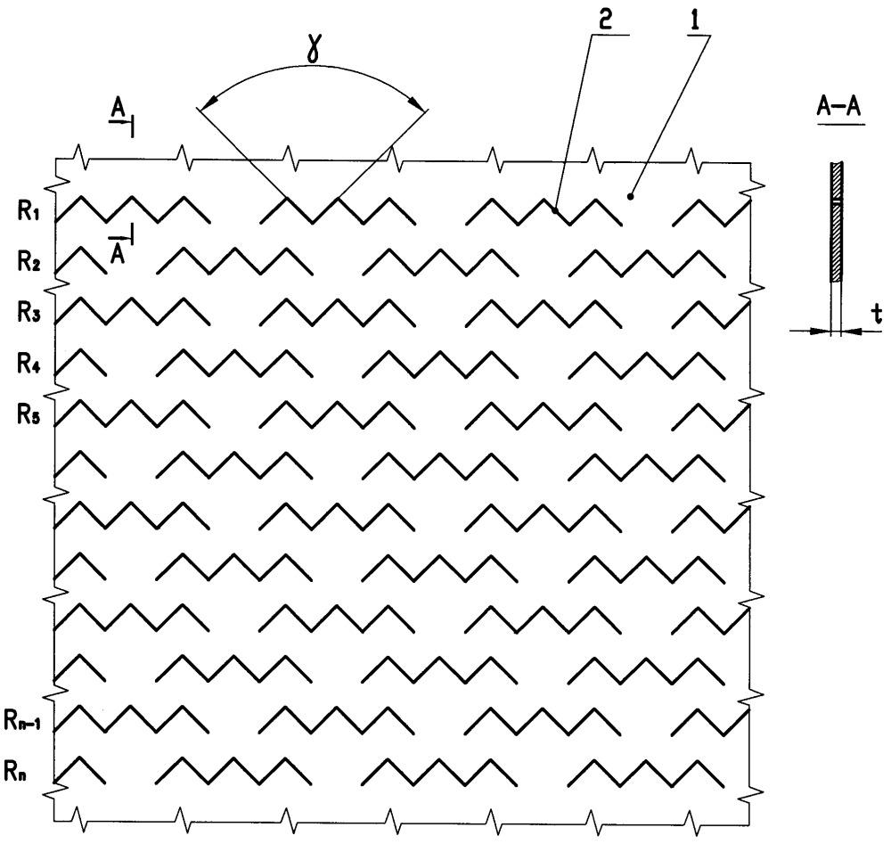Заготовка для ячеистой объемной несварной бесшовной георешетки