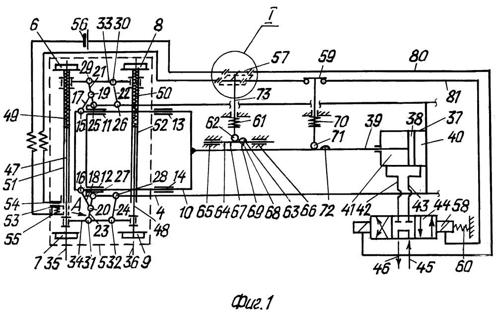Система для перевода колесных пар с одной колеи на другую