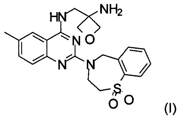 Способ получения n-[(3-аминооксетан-3-ил)метил]-2-(1,1-диоксо-3,5-дигидро-1,4-бензотиазепин-4ил)-6-метил-хиназолин-4-амина