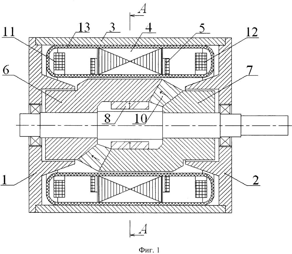Сверхпроводниковая синхронная электрическая машина с обмотками якоря и возбуждения в неподвижном криостате