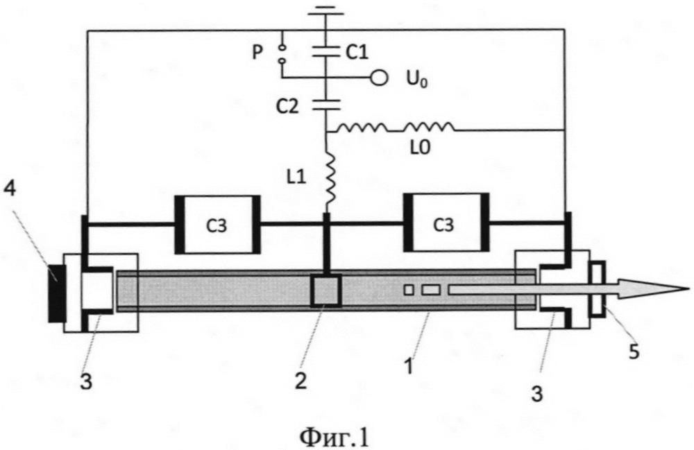 Азотный лазер, возбуждаемый продольным электрическим разрядом