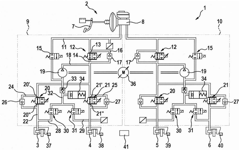 Способ управления работой тормозной системы, а также тормозная система для автомобиля